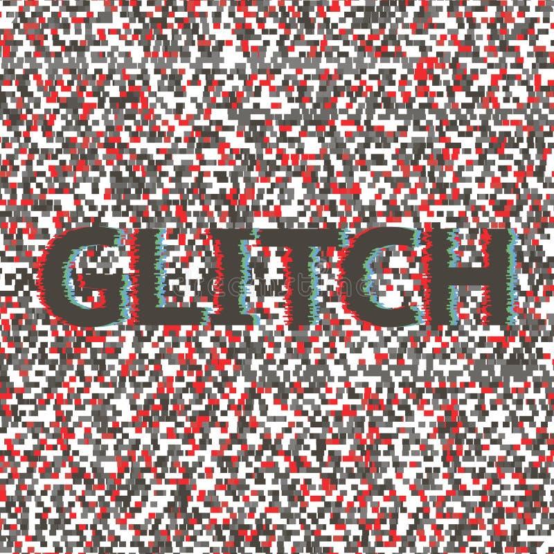 Unik skada för video för fel för tekniskt fel för oväsen för designabstrakt begreppDigital PIXEL stock illustrationer
