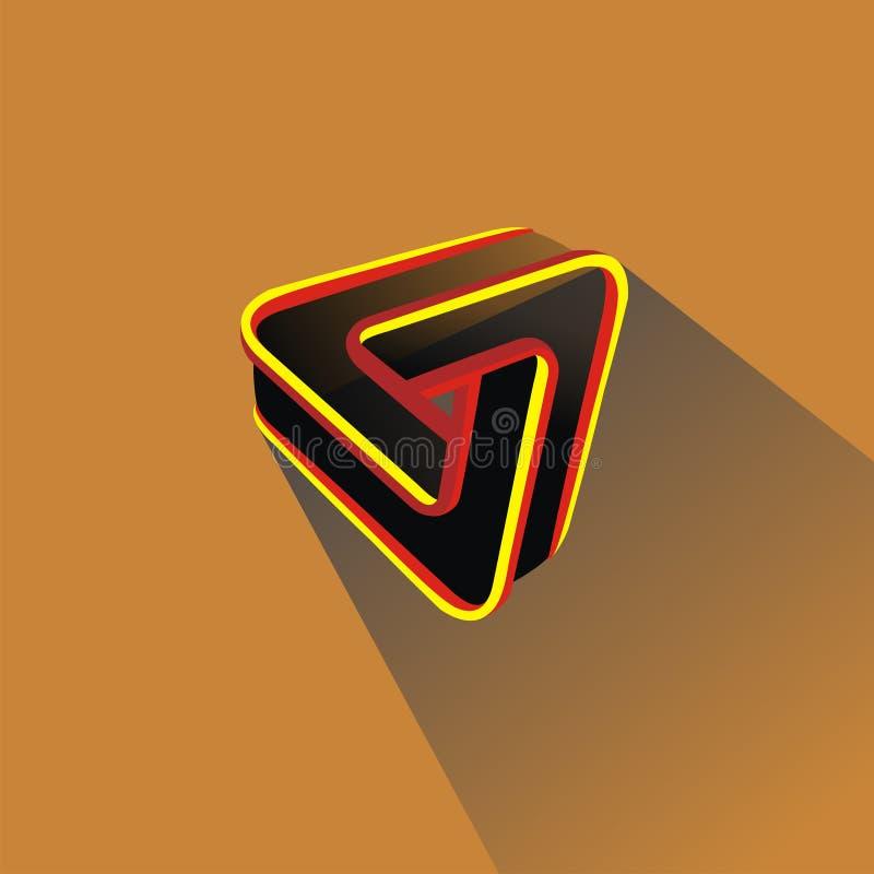 Unik triangel arkivfoto