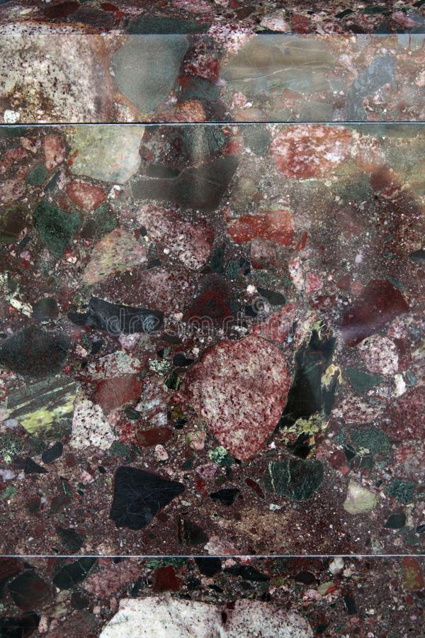 Unika mång--färgade naturliga marmorerar panelen för dekorativ cladding och avslutning arkivbilder