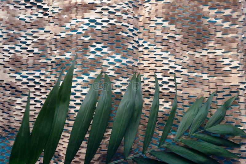 Unikalna eco tekstura rzemiosło papieru sieć zdjęcie stock