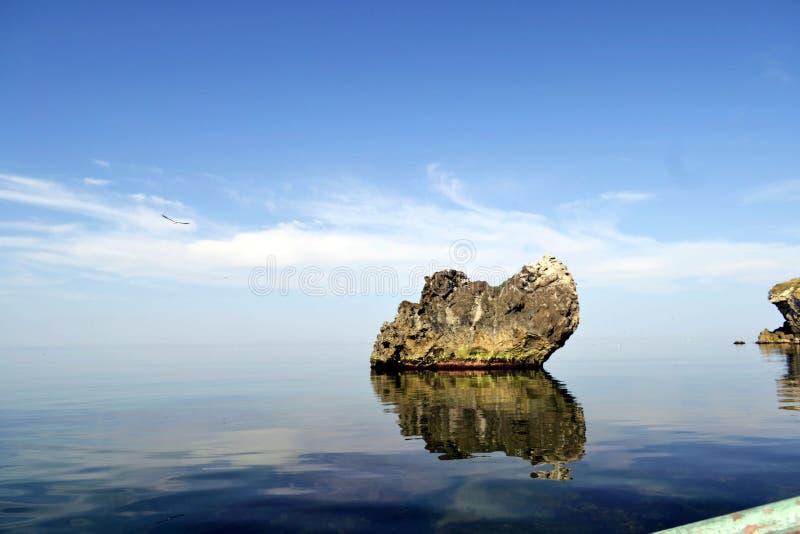 Unikalna natura morze Azov obraz stock