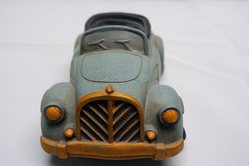 Unikalna Retro samochód miniatura z Yogyakarta wierza miniaturą zdjęcie royalty free