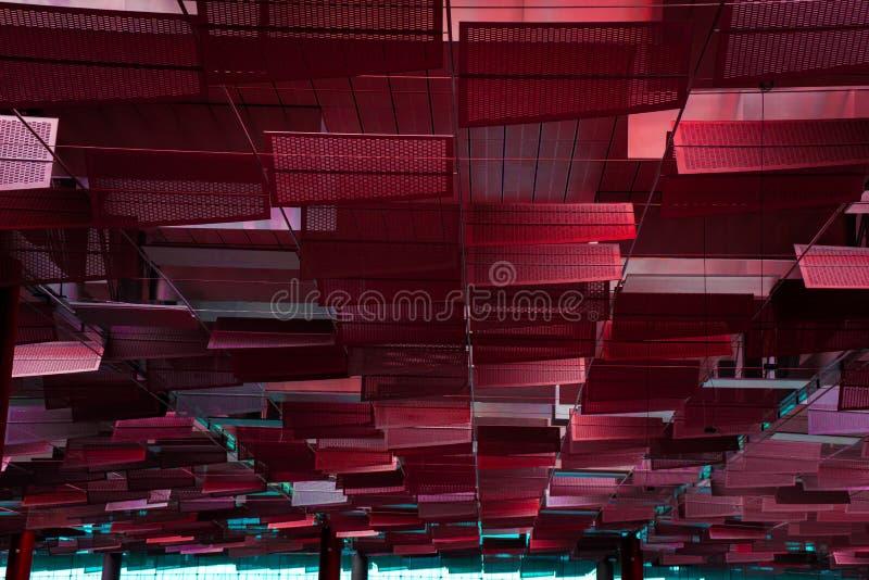 Unikalna rewolucjonistka dachu architektura indoors zdjęcia stock