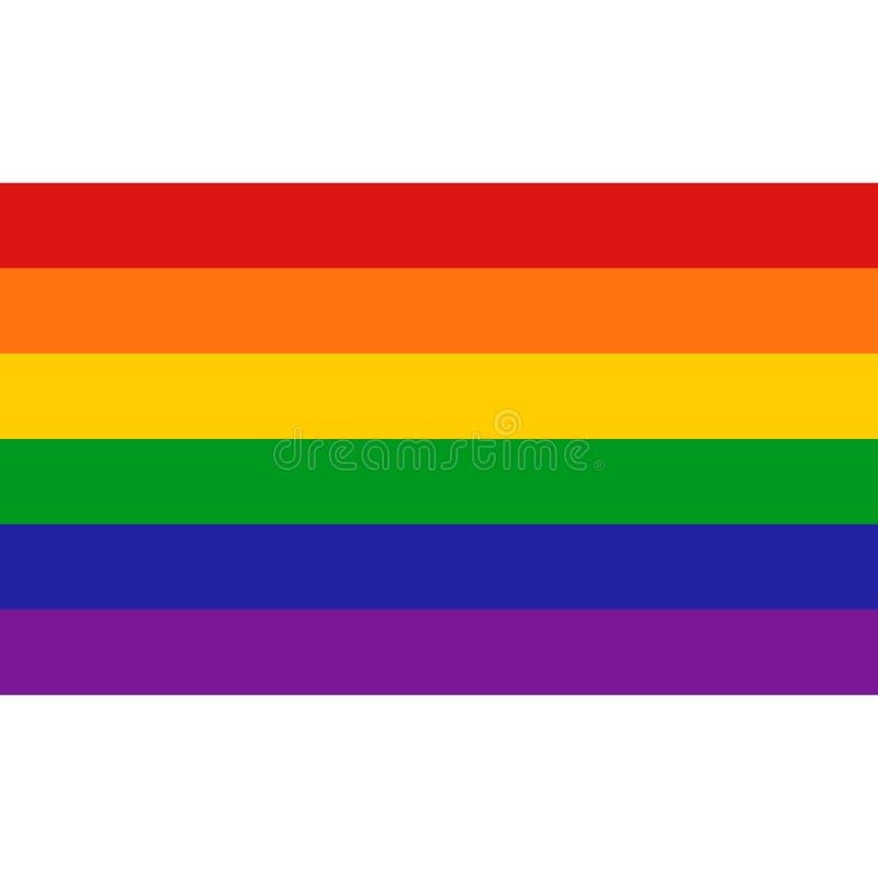 Unikalna tęczy serca flaga Barwił LGBT dumy projekta element ilustracja wektor