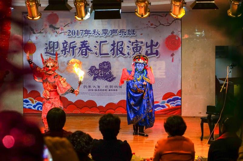 Unikalna umiej?tno?? Sichuan opera zdjęcia royalty free