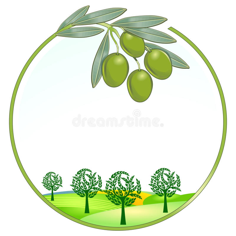 unikalne krajobrazowe oliwki royalty ilustracja