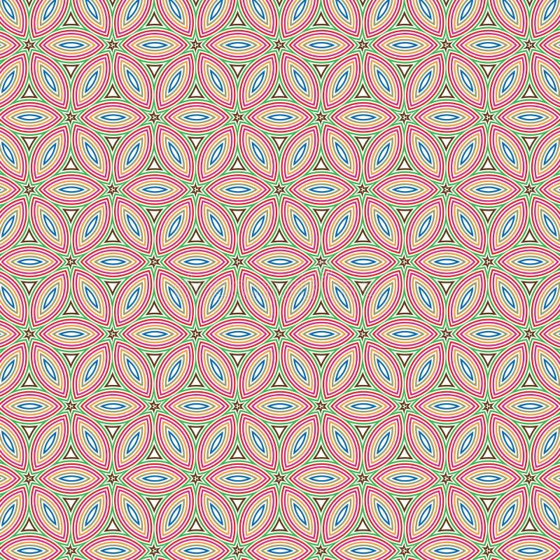 Unikalnego Abstrakcjonistycznego Kolorowego ulistnienia kwiatu złudzenia wzoru tekstury Kwiecisty tło ilustracji