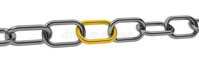 Unikalny łańcuch ilustracja wektor
