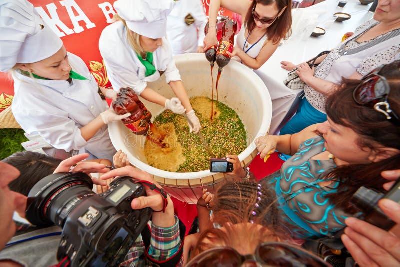 Unikalny światowy wydarzenie pierwszy gastronomiczny festiwal fotografia royalty free