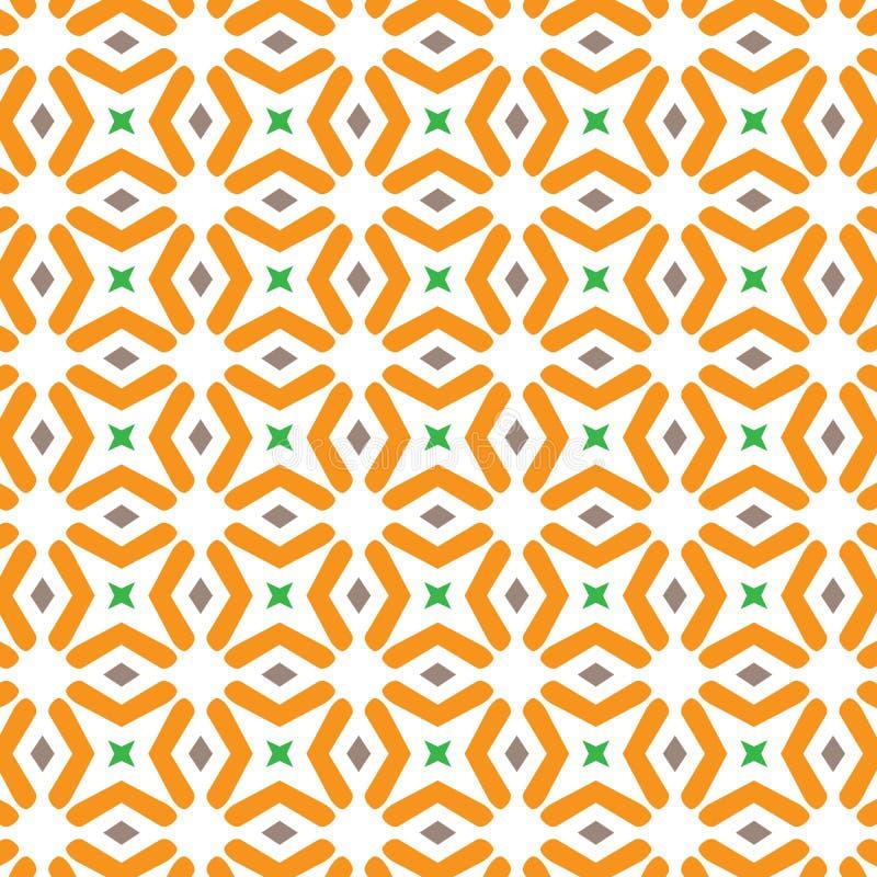 Unikalny Abstrakcjonistyczny Yelloe tkaniny wzoru Zielony Geometryczny tło royalty ilustracja