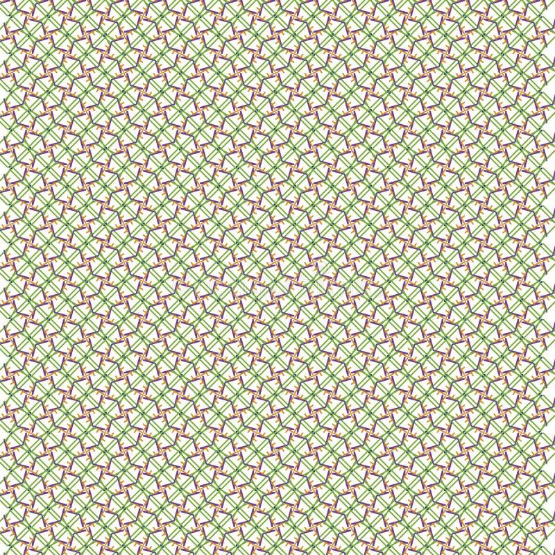 Unikalny abstrakt zieleni wzoru tło ilustracja wektor