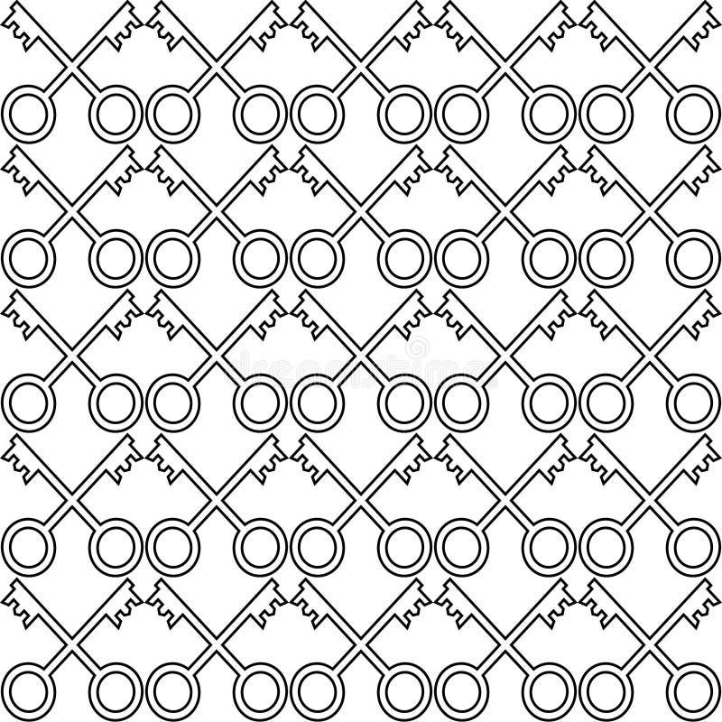 Unikalny bezszwowy wzór, robić od kluczy ilustracji