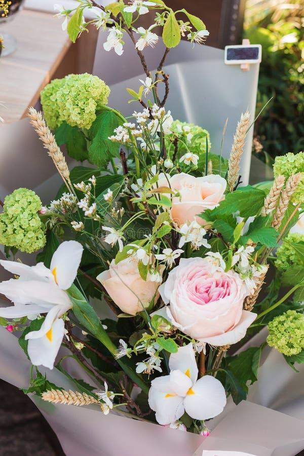 Unikalny bukiet kwiaty zdjęcie royalty free