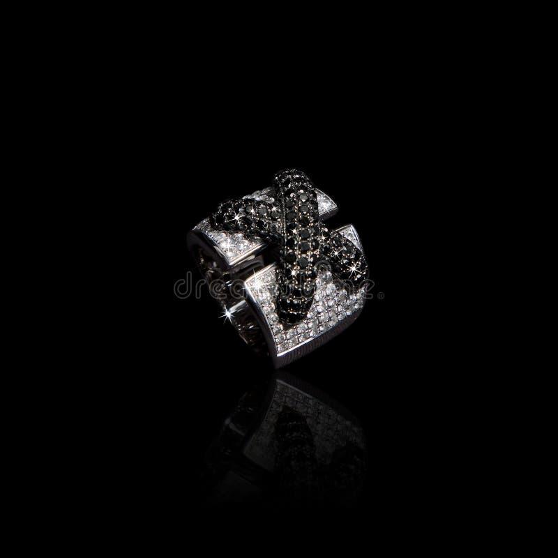 unikalny diamentowy pierścionek obraz royalty free