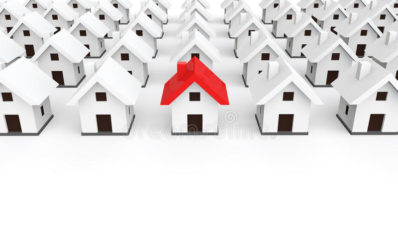 Unikalny dom 3d odpłaca się ilustracji