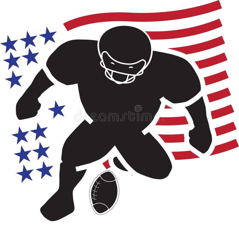 Unikalny futbolowy logo ilustracji