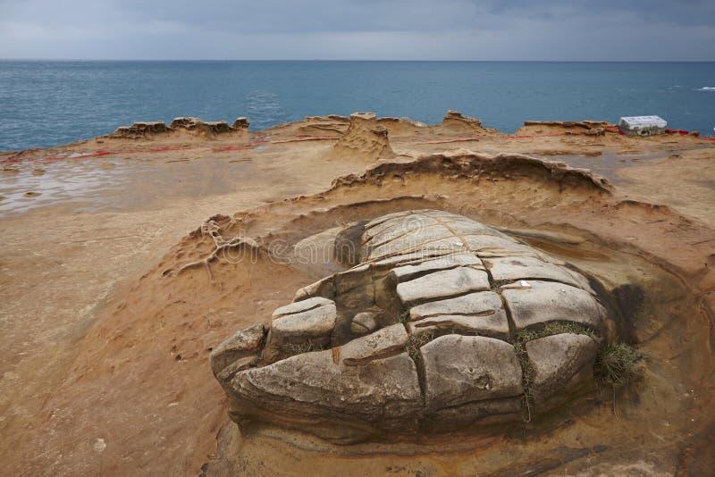 Unikalny krajobraz Tajwański północny wybrzeże i landform fotografia royalty free