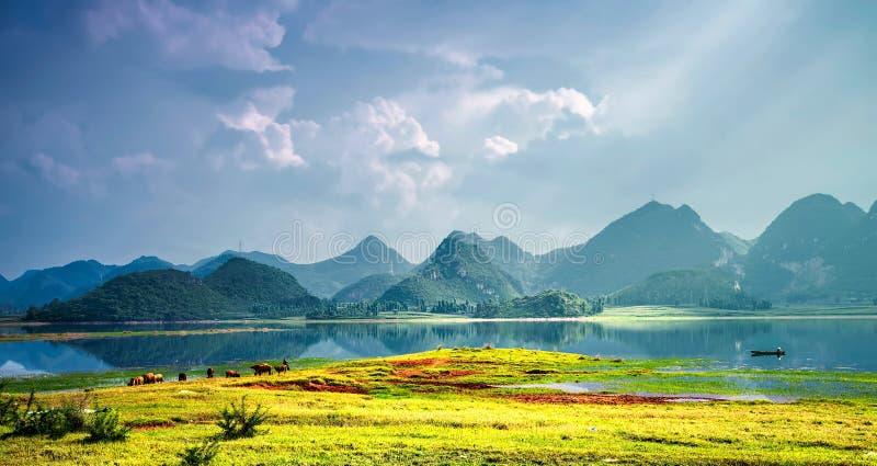 Unikalny krasu terenoznawstwo w Porcelanowym ` s Yunnan puzhehei fotografia royalty free