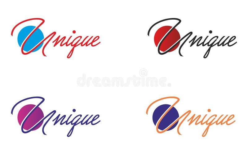 Unikalny logo ilustracja wektor