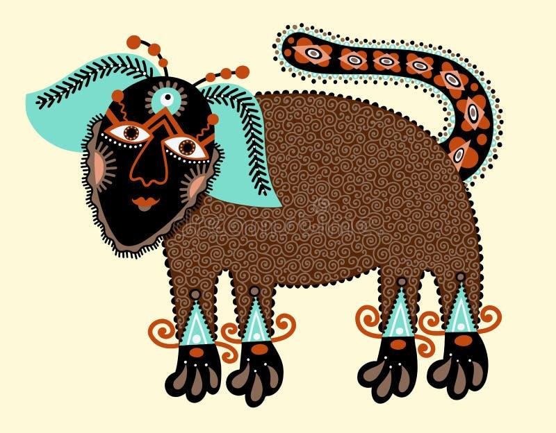 Unikalny oryginalny rysunek pies ilustracja wektor