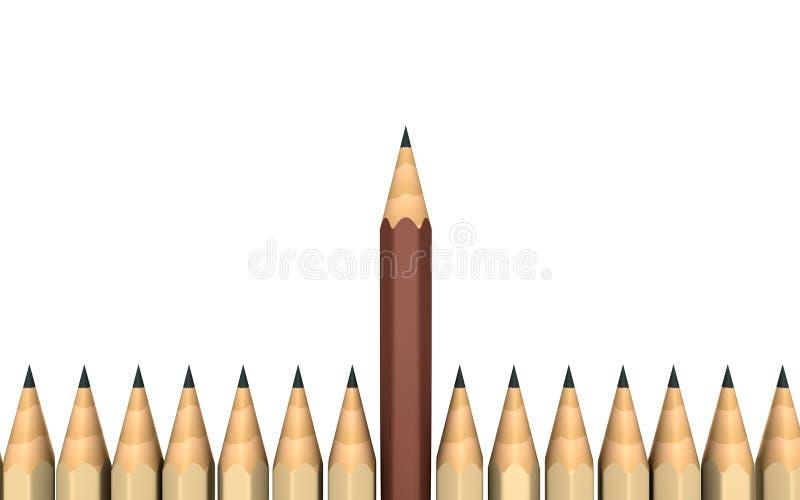 Unikalny pojęcie ilustracja wektor