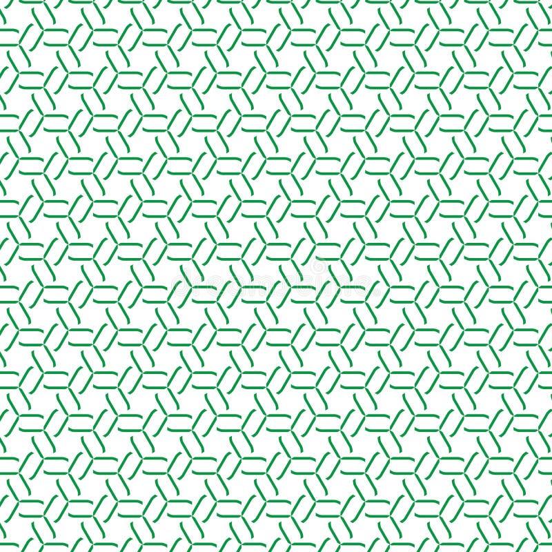 Unikalny Retro abstrakt Powtarzający Zielony tkaniny tekstury tła wzór royalty ilustracja