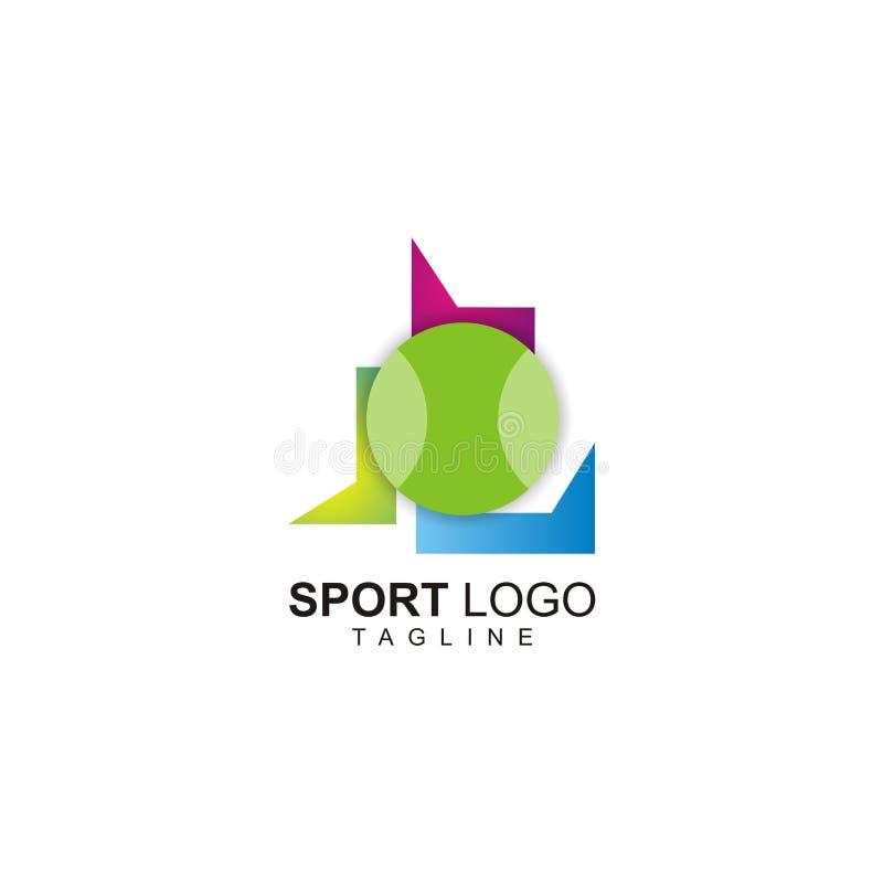 Unikalny sporta logo projekt ilustracja wektor