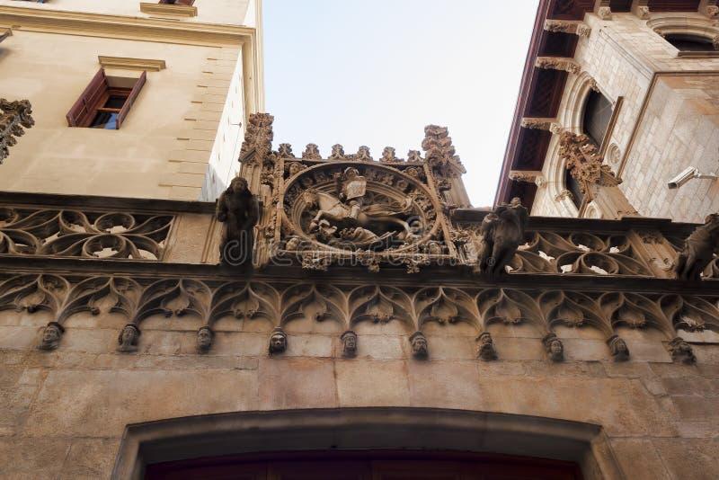 Unikalny stiuk na fasadzie obrazy royalty free