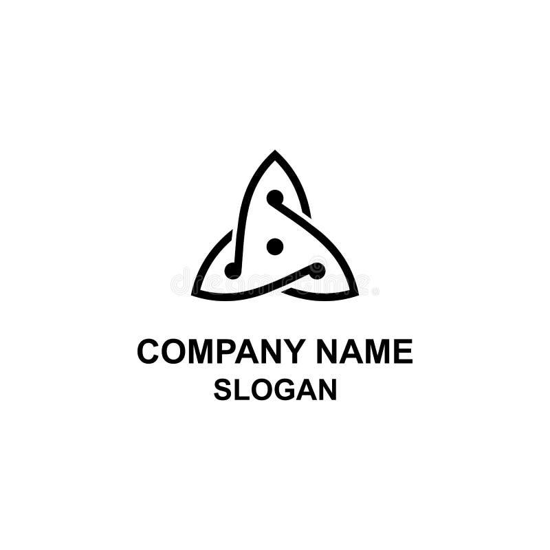 Unikalny trójboka logo ilustracja wektor