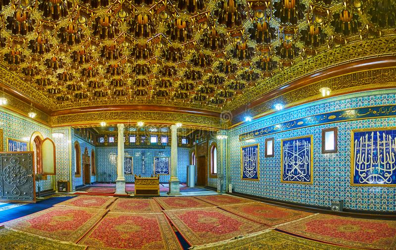 Unikalny wnętrze Manial pałac meczet, Kair, Egipt obrazy stock