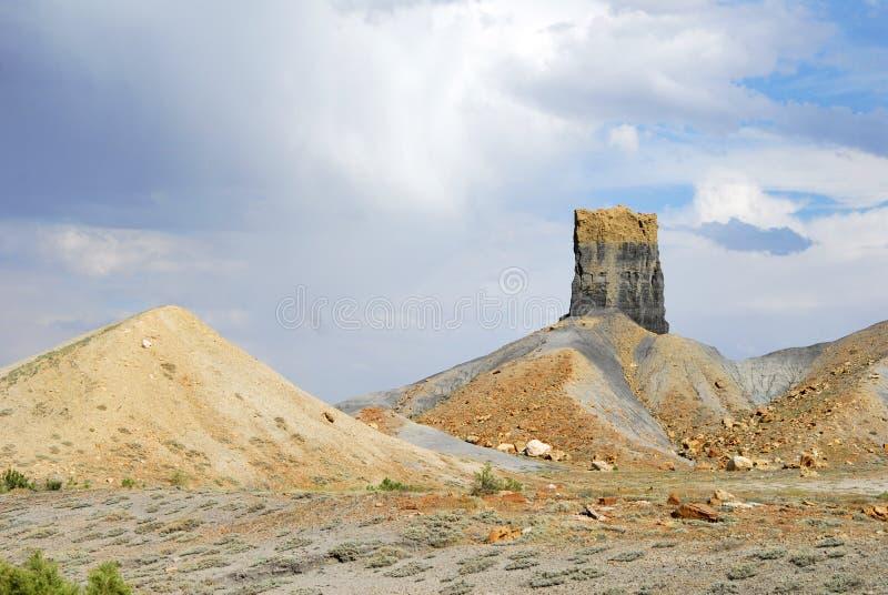 Unikatowe formacje skalne pustynne obraz stock
