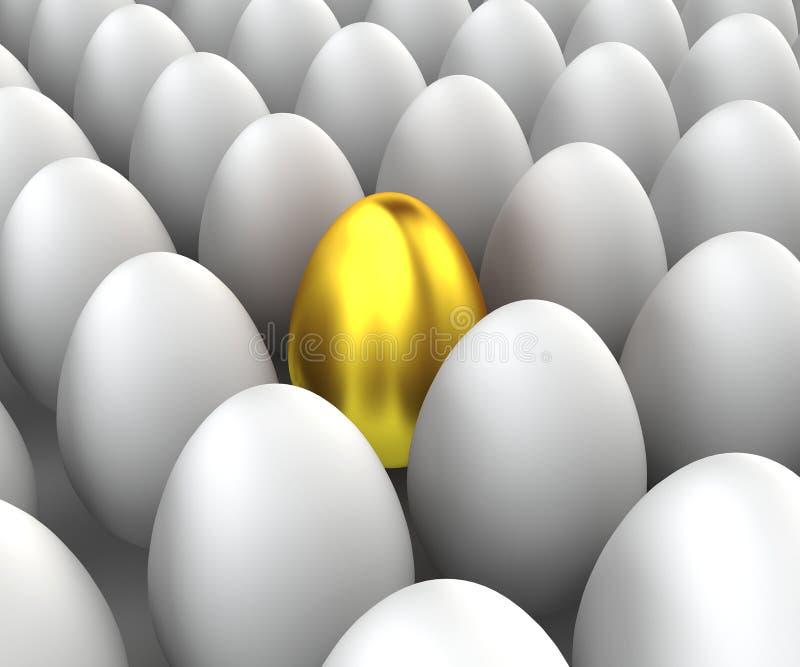 Unikt ägg stock illustrationer