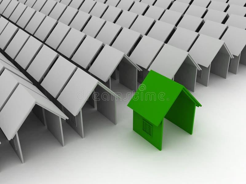 unikt hus vektor illustrationer