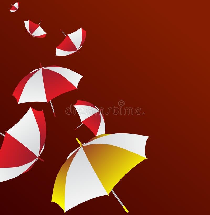 unikt paraply vektor illustrationer
