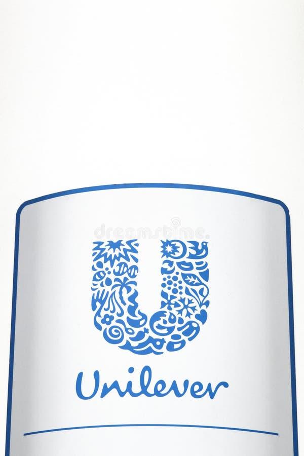Unilever logo na panelu obrazy stock