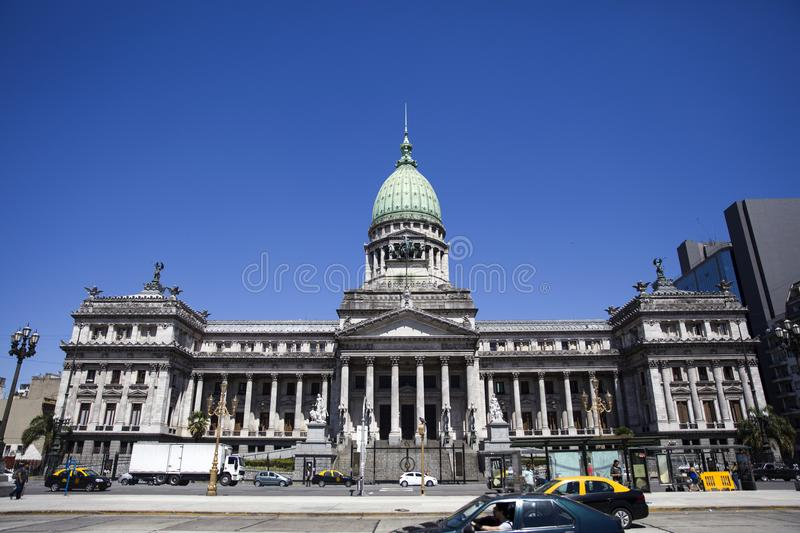 Palace of the Argentine National Congress in Buenos Aires royalty free stock images