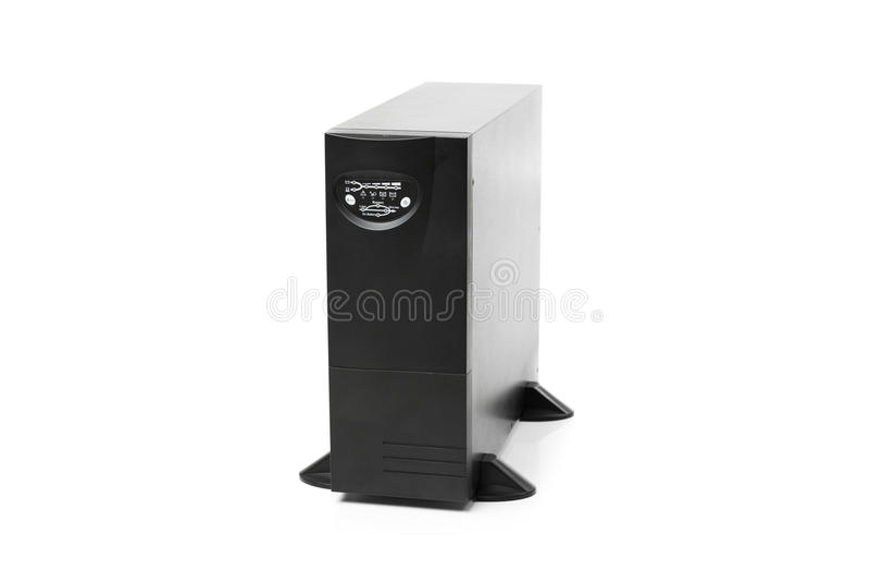 Uninterruptible voeding (UPS) controlemechanisme royalty-vrije stock fotografie