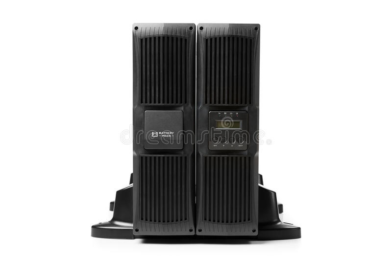 Uninterruptible voeding (UPS) met reservebatterij royalty-vrije stock fotografie