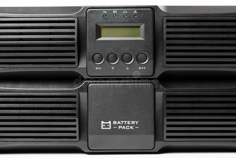 Uninterruptible voeding (UPS) met reservebatterij stock foto's