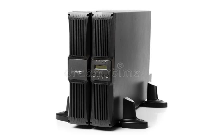 Uninterruptible voeding (UPS) met reservebatterij stock afbeeldingen