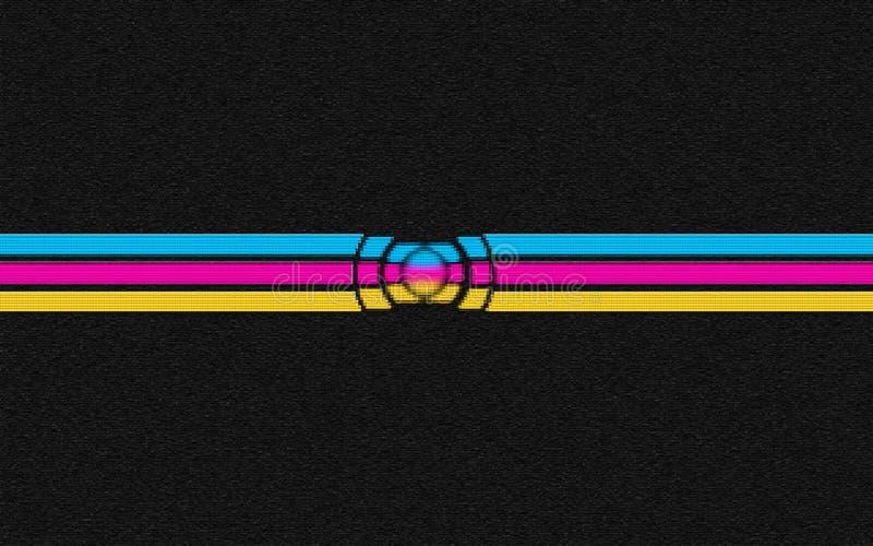 Uninverse profond de fond abstrait des briques 3d image libre de droits