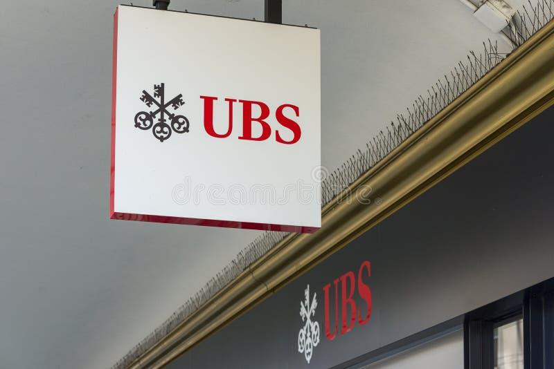 Union Bank Svizzera UBS a Ginevra, Svizzera immagine stock