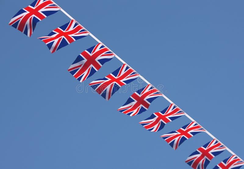 Union britannique Jack Bunting Flags photos stock
