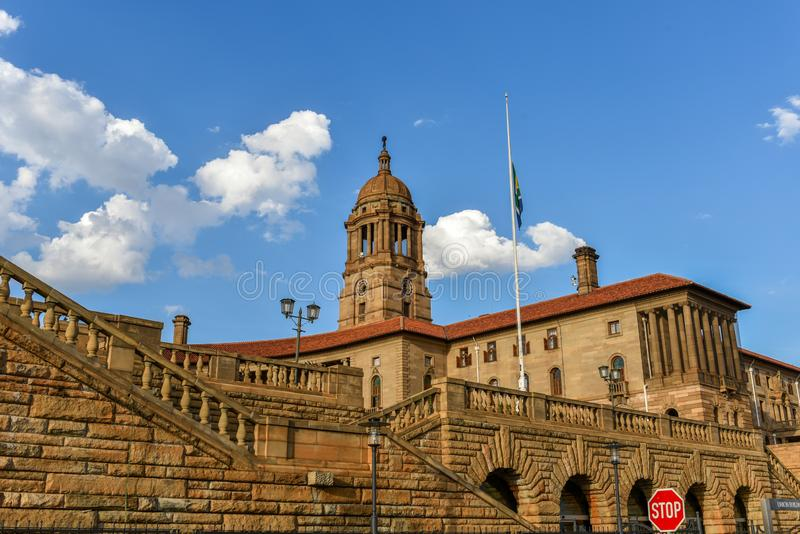 Union Buildings,Pretoria, Gauteng, South Africa. The Union Buildings 1910, a national heritage site, house the offices of the President of South Africa and act royalty free stock photography