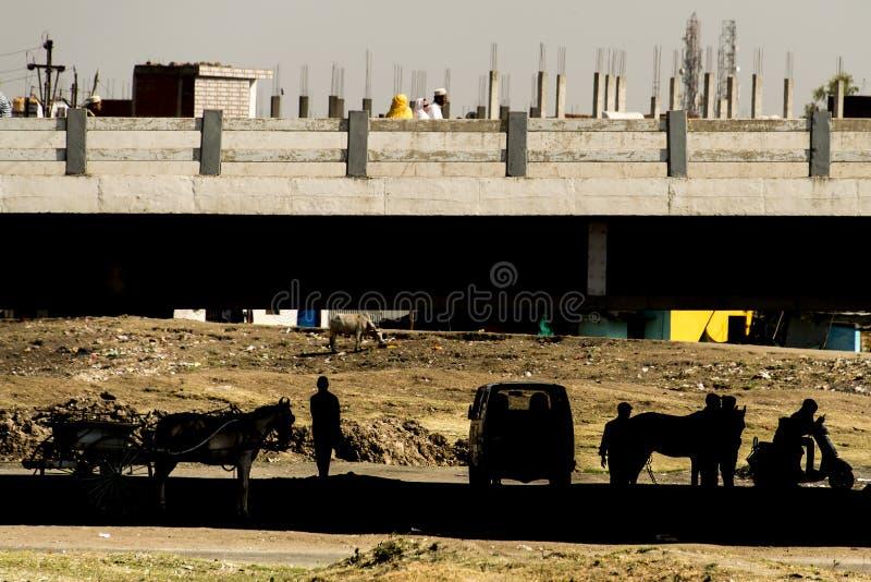 Union Carbide Chemical Plant, Bhopal, Índia imagens de stock