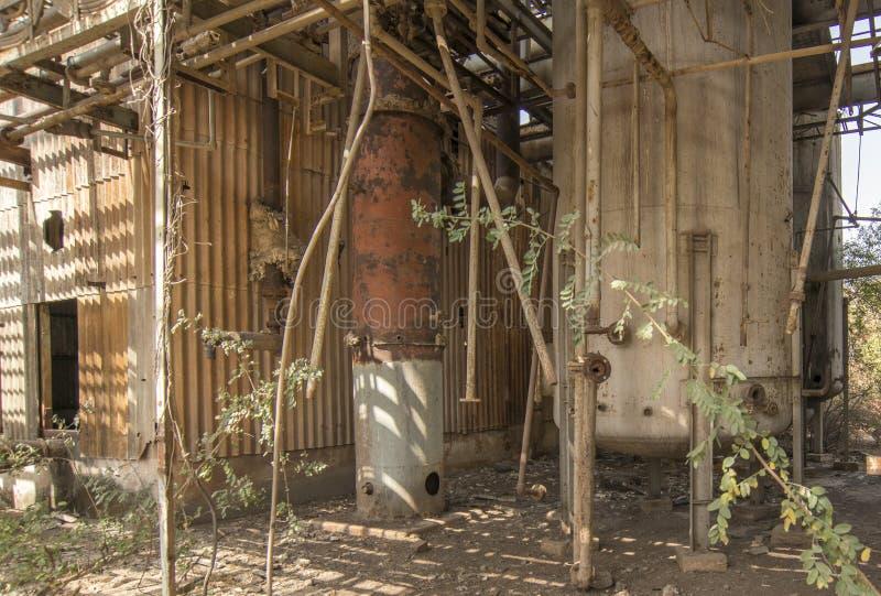 Union Carbide Chemical Plant, Bhopal, Índia foto de stock