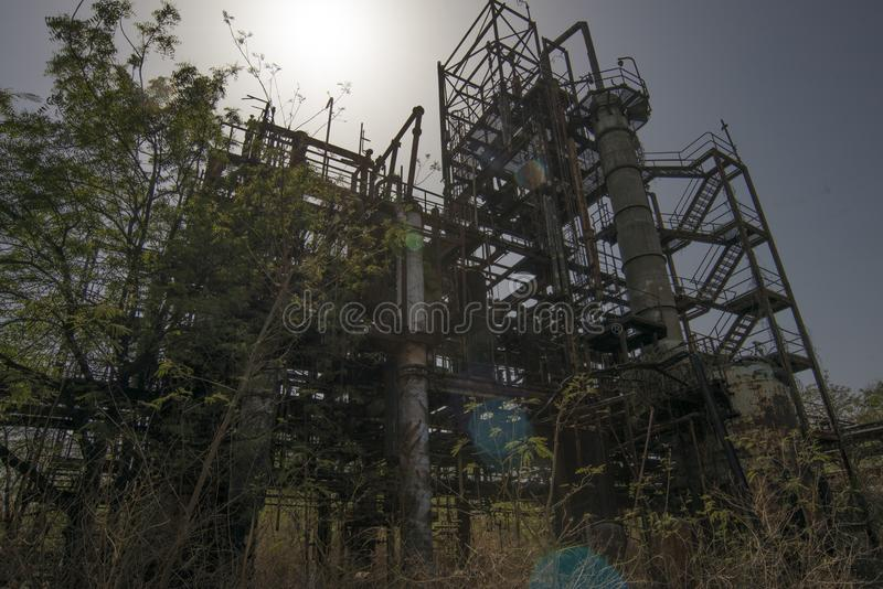 Union Carbide Chemical Plant, Bhopal, Índia fotos de stock royalty free