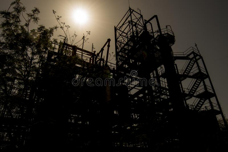 Union Carbide Chemical Plant, Bhopal, India stock images