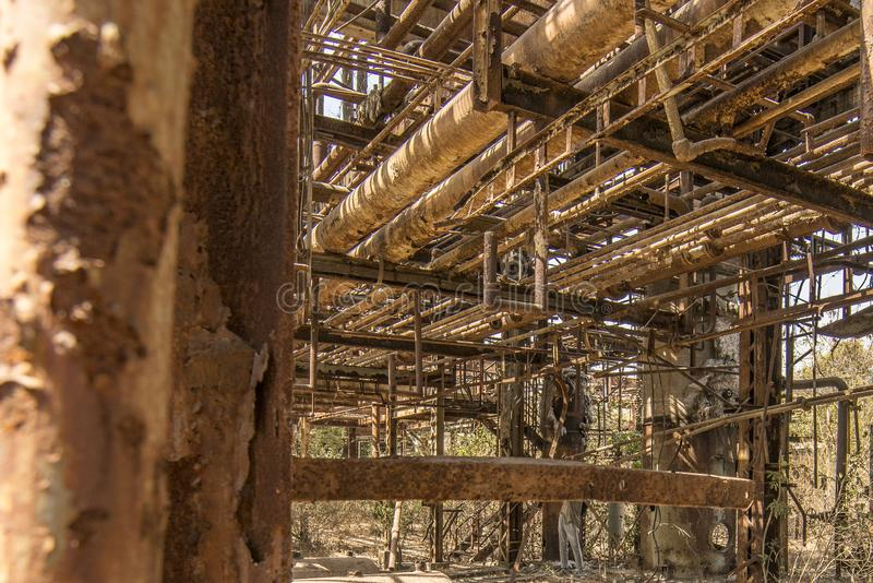 Union Carbide Chemical Plant, Bhopal, India immagini stock
