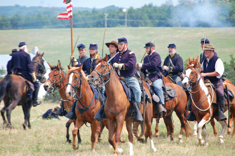 Download Union cavalry reenactment editorial photography. Image of event - 26557912